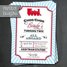 Train Birthday Invitations And Get Inspired To Create Your Own
