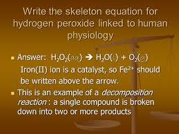 9 write the skeleton equation