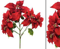 Weihnachtsstern Busch Rot Höhe 60cm Kunsblumen Künstliche