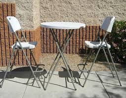 amazing of tall outdoor bistro table with tall folding table and chair bistro set