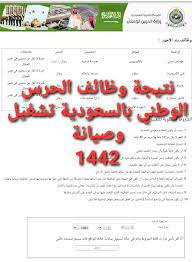 نتيجة وظائف وزارة الحرس الوطني بالسعودية للتشغيل والصيانة بجميع المسميات  1442 - ثقفني
