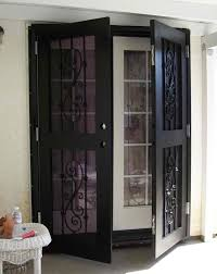 double entry door security bar. security doors for french and sliding - obvious add-ons that don\u0027t match the style or color of current door set/home. double entry bar