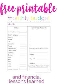 Monthly Bill Budget Printable Monthly Budget Planner Template Download Them Or Print