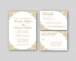 Printable Wedding Invitation Wedding Invitations Gold Wedding Invitation Suite Elegant Wedding