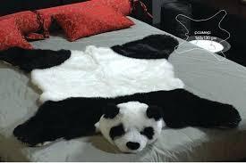 fake bear rug fake fur panda bear skin bearskin rug plush large size inches new fake fake bear rug bear hide