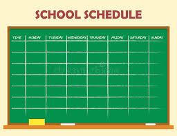 school schedule template school schedule template stock vector illustration of school 75794954