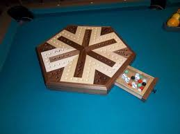 Wooden Aggravation Board Game Inlaid Wooden Maple and Walnut 100 Player Aggravation Board Gaming 52