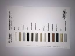 Basf Masterseal Color Chart Irfandiawhite Co