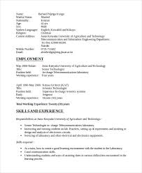 Electrical and Electronic Engineer Resume