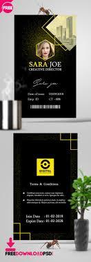 Identification Card Samples 001 Identification Card Psd Template University Student