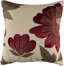 maroon decorative pillows. Plain Decorative Buy Rizzy Home T4013 Decorative Pillows 18 By 18Inch RedCream Online  At Low Prices In India  Amazonin To Maroon Pillows S