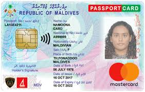 Work Identity Card Maldives Immigration