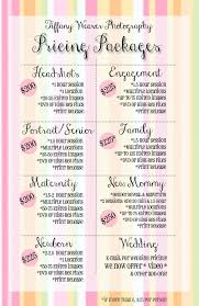 Customizable Pricing Sheet Psd | Tiffany Mcclure Photography ...