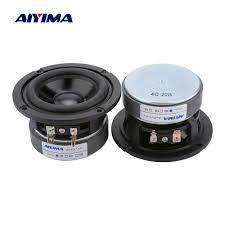 AIYIMA 2Pcs 3 Inch Full Range Speakers 4 8 Ohm 20W Audio Speaker Midrange  Bass Sound Loudspeaker Home Theater Amplifier DIY - Special Offer #CCA848