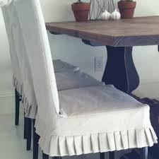 dining room chair slipcovers from drop cloth