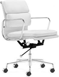 modern white office chair. Elegant Modern Leather Desk Chair Office Andifurniture White E