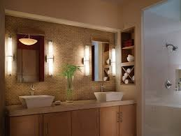 astonishing contemporary bathroom lighting fixtures bathroom lighting wall led lamps and brown wall and sink