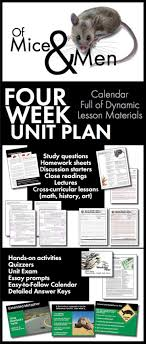 best of mice and men ideas famous books of mice and men unit plan four full weeks of dynamic lessons ccss