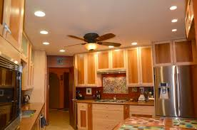 plans for recessed lighting in a kitchen with ceiling fan and lights