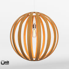 West Elm Ceiling Light Bentwood Pendat Round By West Elm 3d Model