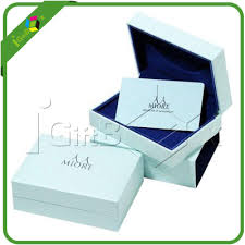 custom paper jewelry packaging gift bo with logo printed