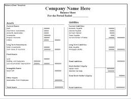 Basic Balance Sheet Template Excel Simple Balance Sheet Template Download Excel Template