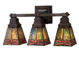 Arts And Crafts Mission Style Lighting Meyda 48036 Prairie Dragonfly Vanity Light