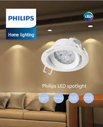 philips led downlight 7w 2700k white light