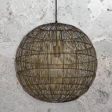 bronze wire ball pendant light