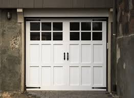 white wood garage door. Fabulous S With Classic White Wooden Garage Door Black Glass Design Ideas Wood T