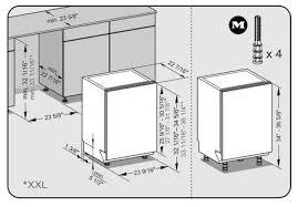 miele dishwasher installation. Unique Dishwasher Miele Classic Dimensions For Dishwasher Installation E