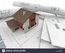 architecture blueprints 3d. 3d House Model Emerging From Architectural Drawings - Stock Image Architecture Blueprints