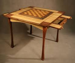 Wooden Game Table Plans custom game table Custom chess game table oak rosewood 56