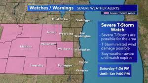 SE Wisconsin severe thunderstorm watch ...
