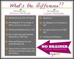 Signing Up With Young Living Difference Between Customer