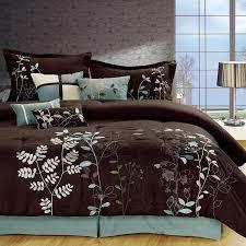 image of solid brown comforter king