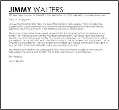 Cover Letter For Team Leader Position Examples The Hakkinen