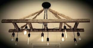 vintage farmhouse lighting. Antique Farmhouse Chandelier Vintage Ladder With Bulbs Made Reclaimed Rustic Wine . Lighting T