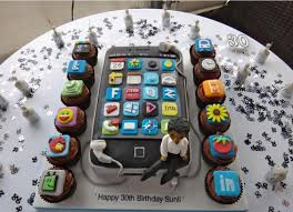 iphone 1000. iphone birthday cake rectangle black colorfull with small cupcakes and man miniature 1000 ideas r