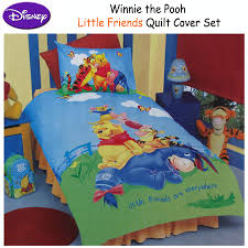 disney licensed winnie the pooh friends quilt duvet cover set single double