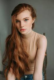 Ginger Redhead Carrot Girl Beautiful Hair Color Freckels.
