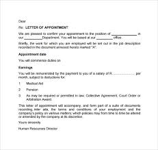 Sample Of Appointment Letter Pdf | Granitestateartsmarket.com
