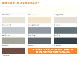Ardex Grout Colors Lanoire Info