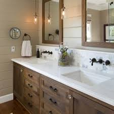 Bathroom cabinets ideas Tall Bathroom Farmhouse White Tile And Stone Tile Bathroom Idea In San Diego With Dark Wood Houzz Bathroom Cabinet Ideas Houzz