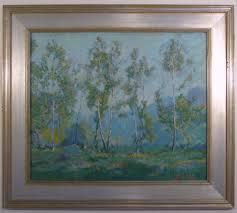 vintage oil in antiqued frame