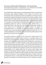 assignment bios scientific report bios ecology  arts 1240 environmental history essay