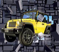Home decoration wallpaper 3d mural jeep ...