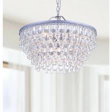 modern teardrop crystal chandelier