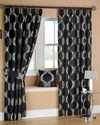 Simple Black And White Curtains For Intended Design Ideas