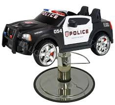 picture of police charger kids police car styling chair with your choice of base